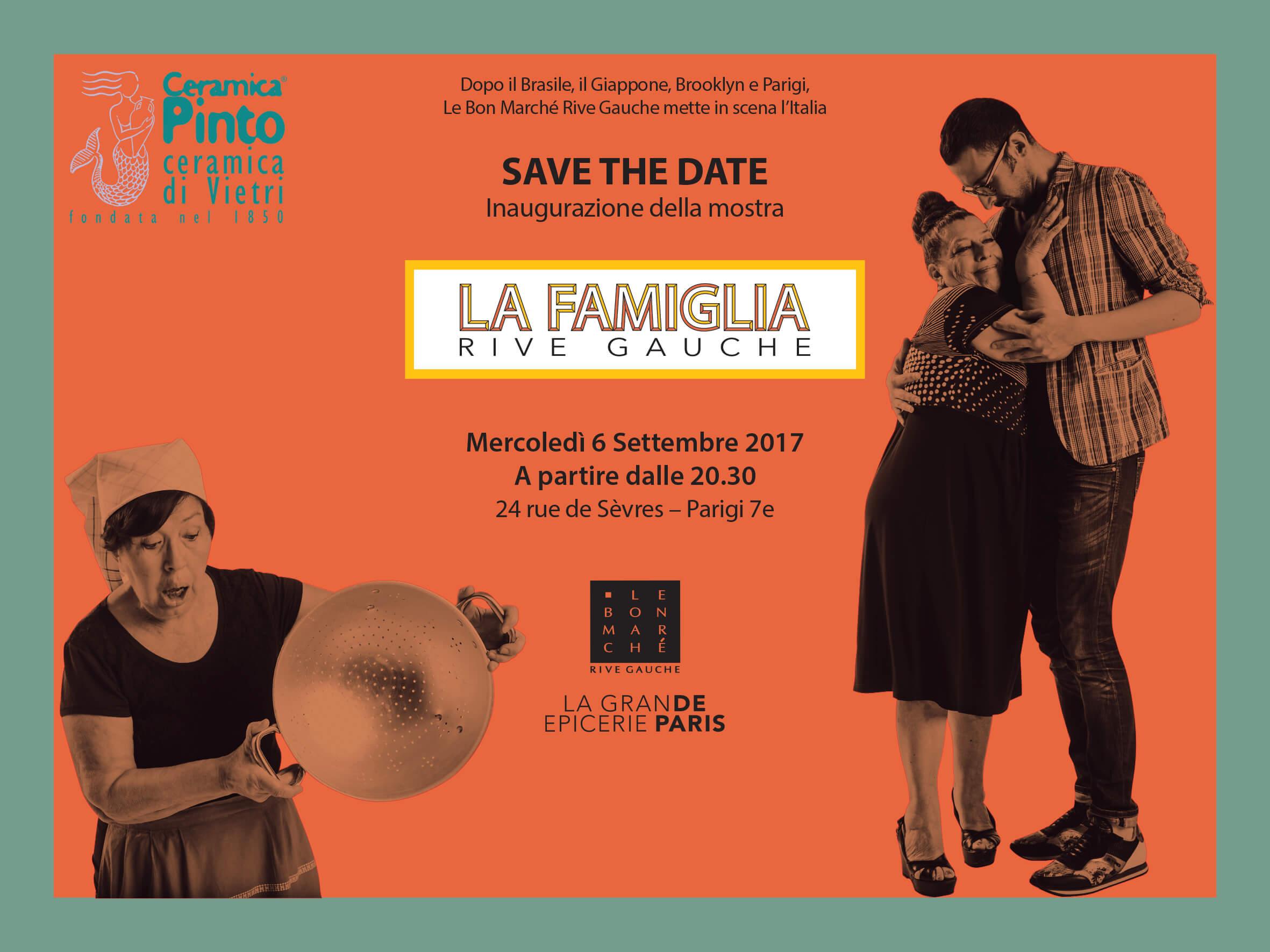 "A Parigi per la mostra ""La Famiglia"" a Le Bon Marché Rive Gauche"