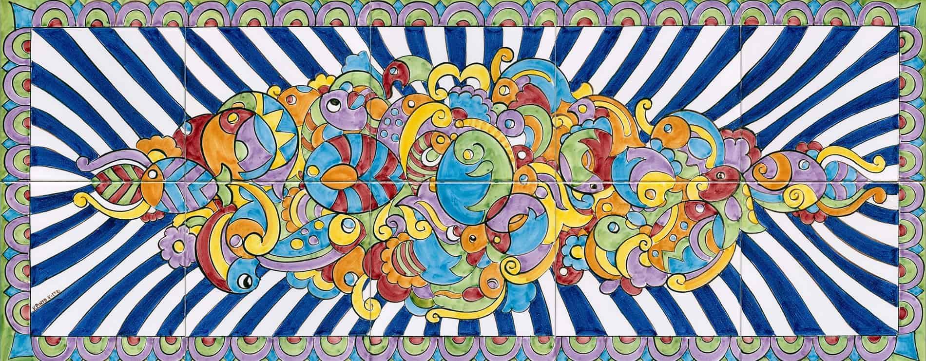 pannelli decorativi in ceramica