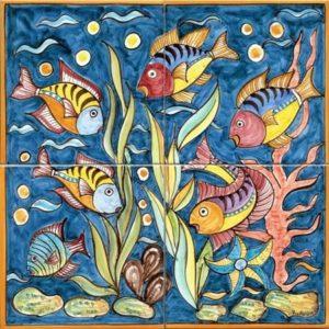 pannelli decorativi in ceramica fondale marino maraga