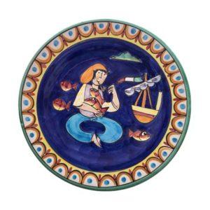piatti da appendere pescatore con pesci 35