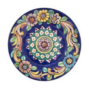 piatti da appendere fiorato blu 2