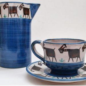 Bicchieri tazze e brocche in ceramica vietrese